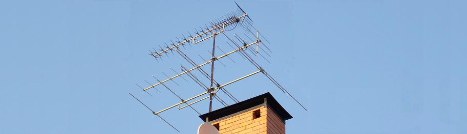 Установка антенны на кровлю дома